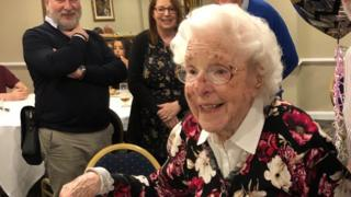 Lilian Ward at her 100th birthday party in November 2019