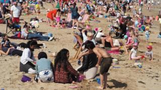 Holidaymakers basked in the sunshine in Llandudno during a heatwave in August