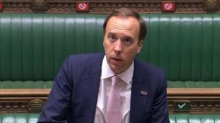 Matt Hancock in the House of Commons