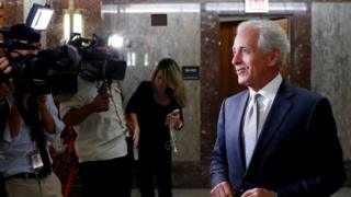 Senator Bob Corker announces his retirement to media