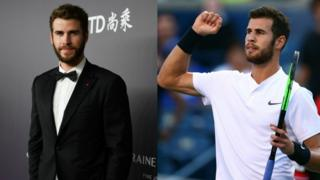 Liam Hemsworth and Karen Khachanov side by side
