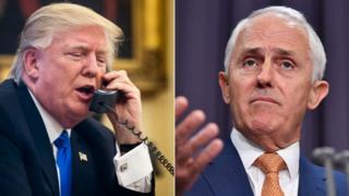 Donald Trump na waziri mkuu wa Australia Turnbull