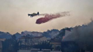 Пожарный самолет Израиля