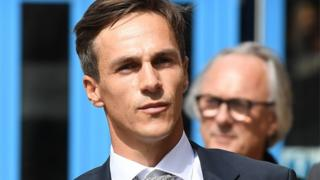 Thorbjorn Olesen outside Magistrates' Court