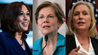 Kamala Harris, Elizabeth Warren, Kirsten Gillibrand