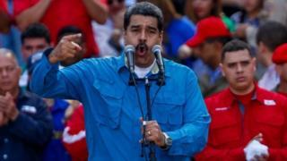 Venezuelan President Nicolas Maduro (C) participates in the commemoration of the 60th anniversary of the uprising against General Marcos Perez Jimenez in Caracas, Venezuela, 23 January 2018.