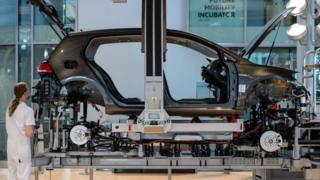 Fábrica de automóviles en Alemania.