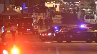 Police vehicles at Pulse nightclub