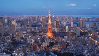 FEBRUARY 10: A general view of Tokyo Tower and the surrounding area on February 10, 2012 in Tokyo, Japan.