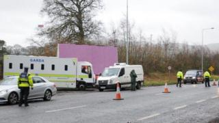 Illegal immigration operation in County Lough in the Republic of Ireland
