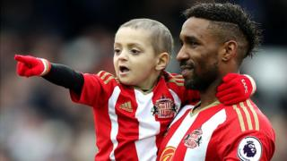 Bradley Lowery and Jermain Defoe