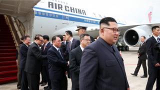 金正恩乘坐非常熟悉飛新加坡航線的中國國航抵達新加坡