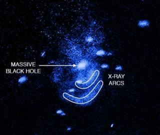 galaxy seen in X-ray and annotated