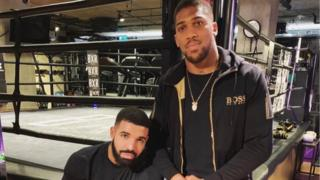 Anthony Joshua and Drake