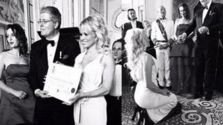 "Sahte prensin, aktris Pamela Anderson'ı ""kontes"" ilan ettiği de ortaya çıktı."