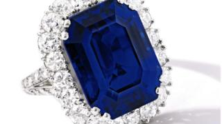 The 27.68-carat Kashmir sapphire and diamond ring