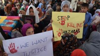 اعتصاب غذای قوم هزاره در کویته پاکستان