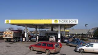 Morrisons petrol forecourt