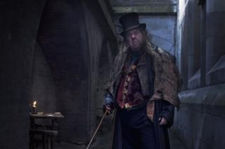 British actor Timothy Spall in a scene from the Oliver Twist miniseries