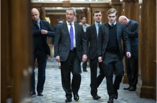 Nigel Farage and Dan Jukes, London, 2017