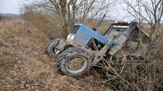 Tractor crashed