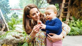 The Duchess of Cambridge with Prince Louis at the Chelsea Flower Show