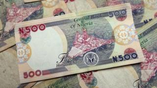 N500 notes of Nigeria money