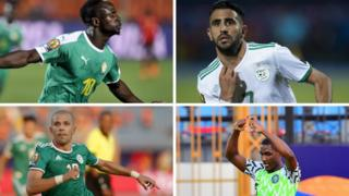 Sadio Mane, Riyad Mahrez, Sofiane Feghouli and Odion Ighalo