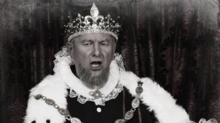 Король, читающий прокламацию
