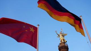 中國和德國國旗
