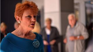 Pauline Hanson campaigning
