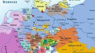 Карта Германии в 1806 году