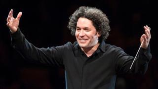 Gustavo Dudamel en escena.