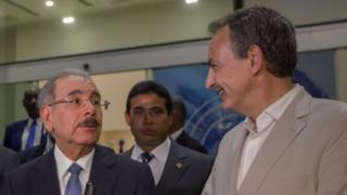 Danilo Medina y José Luis Rodríguez Zapatero.