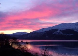 This was taken at sunset at Portincaple on the shores of Loch Long