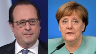 オランド仏大統領(写真左)とメルケル独首相