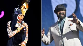 Grace Jones and Gregory Porter
