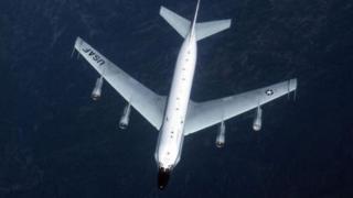 Ndege ya Marekani ya ujasusi aina ya US RC-135