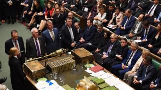 MPs announcing vote