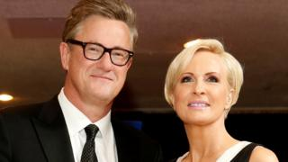 Joe Scarborough and Mika Brzezinski at the annual White House Correspondents' Association dinner in Washington on April 25, 2015