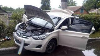 На рулем автомобиля Hyundai Accent была беременная женщина