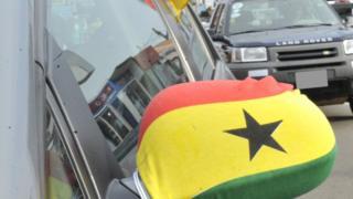 motor wit Ghana flag.