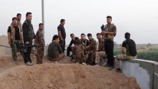 Kerkük'teki Kürt Peşmerge güçleri