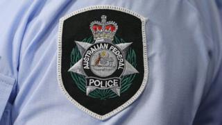 An Australian Federal Police badge