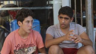 Сирийские мальчики-беженцы