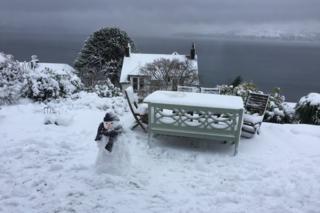 snowman in Gourock