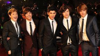 Liam with the other members of One Direction in 2010