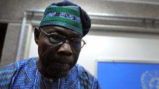 Nigeria former president Olusegun Obasanjo