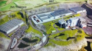 An artist's impression of the proposed waste facility at Hightown quarry