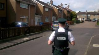 Police at scene in Lisburn